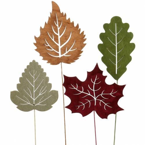 Plantestikblad 8-10 cm naturligt / grønt / lilla 24stk