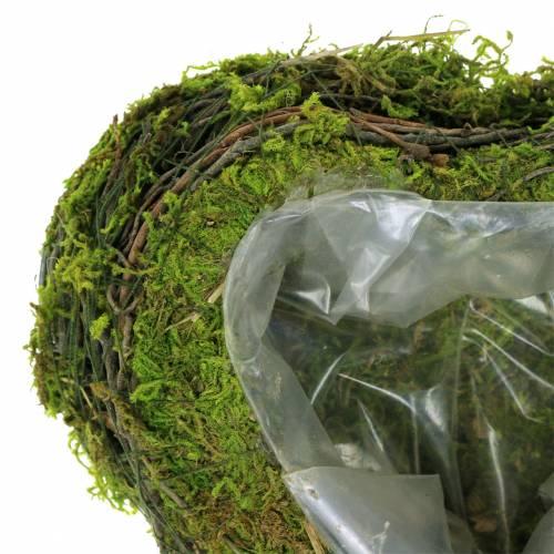 Plantehjertevin, mos 22cm x 20cm H7cm