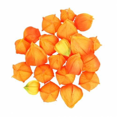 Physalis Orange Assorteret 22stk kunstige kelke