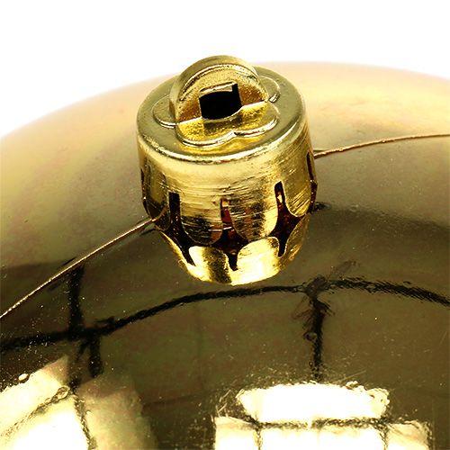 Plastkugle guld lille Ø14cm 1p