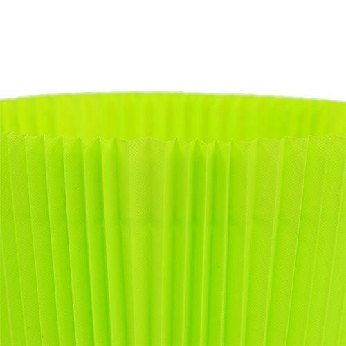Plisserede manchetter lysegrøn 10,5 cm 100stk