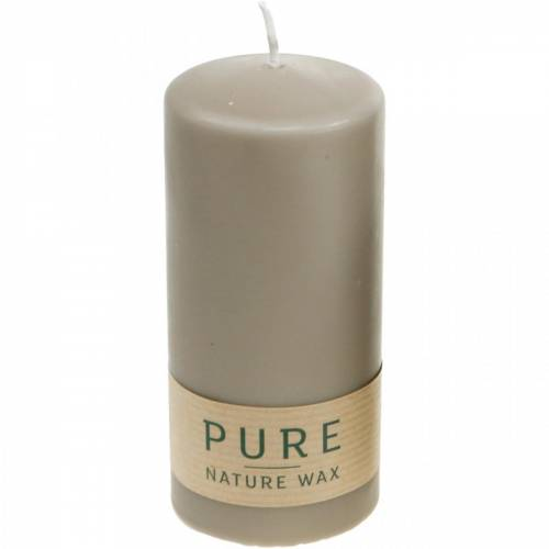 Ren søjlestearinbrun 130/60 naturlig vokslys bæredygtig stearin og raps