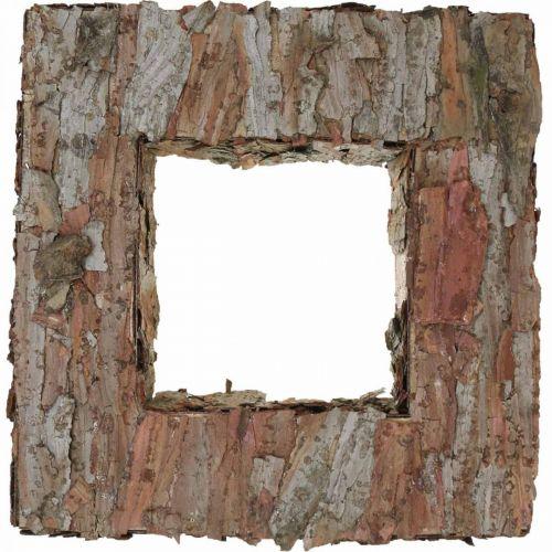 Deco træbark firkantet åben fyrbark efterårsdekoration 30 × 30cm