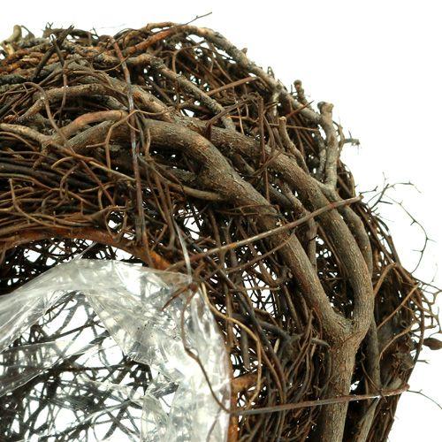 Vinplantehjerte natur 15cm x23cm x5cm 4stk