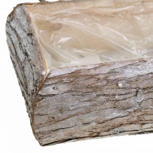 Planter træ vasket hvid 34 × 17 cm H9cm