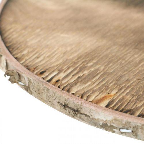 Dekorativ træskive flammet Rustik trædekorationsfiner Ø20cm