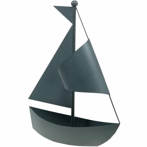 Sejlbåd til plantning af metal 44cm × 34cm