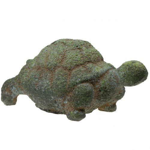 Havefigur skildpadde mos 30 cm x 18 cm H15 cm