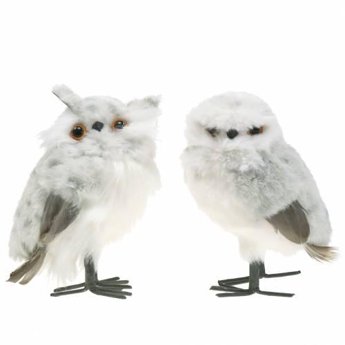 Sneugler hvide 15 cm 2stk