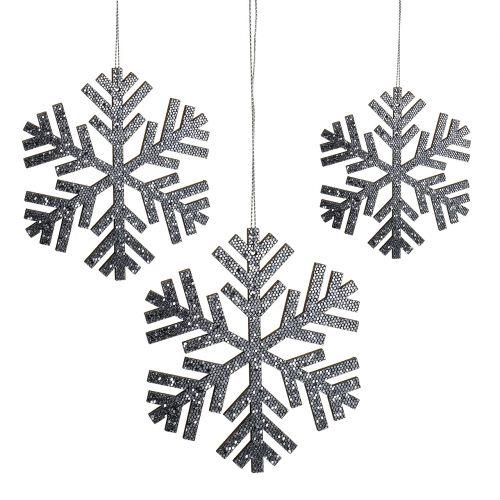 Snefnuggrå hængende Ø8cm - Ø12cm 9stk