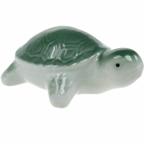 Flydende keramisk skildpadde grøn 11,5 cm 1p