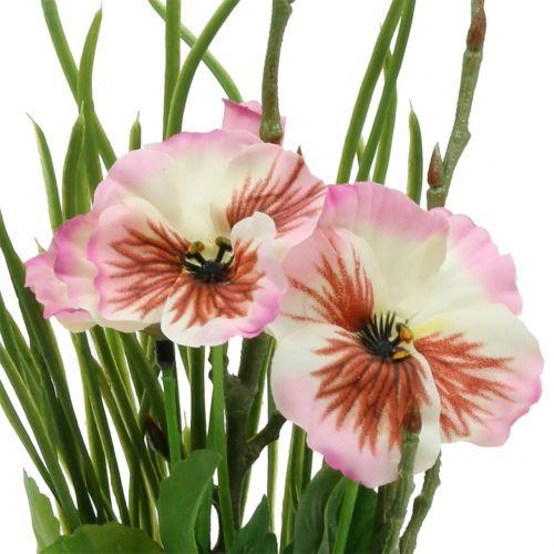 Pansy med mosballer pink 31cm