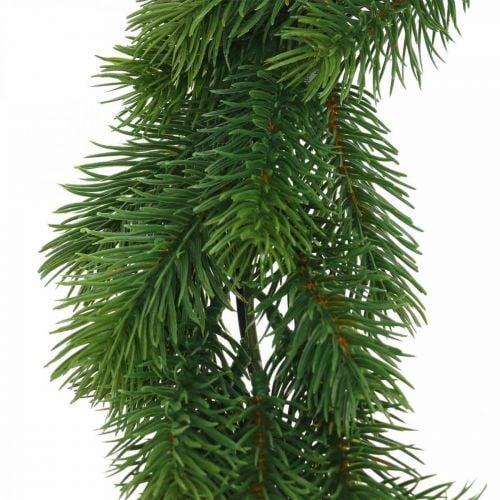 Dekorativ grankrans kunstig vinterkrans grøn Ø35cm