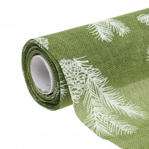 Bordbånd med gran mønster grøn 20cm 5m