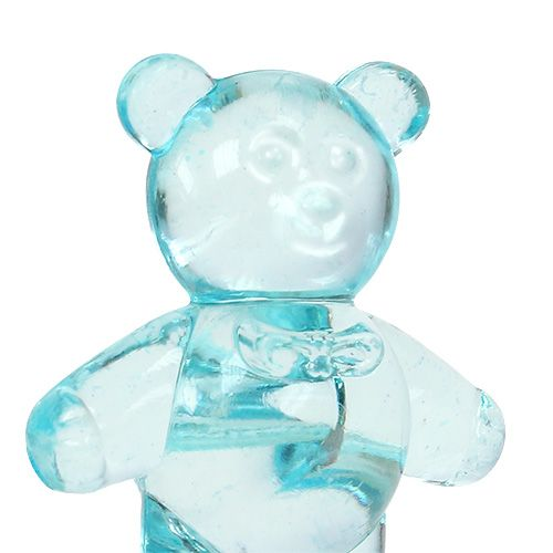 Borddekoration til fødselsbjørnen blå 3,5 cm 60p
