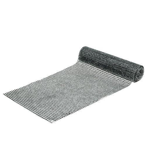 Bordløber med paljetter sølv W25cm L228cm