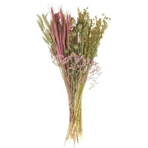 Tørrede blomster DIY sæt til buket lyserøde tørre blomster 60cm
