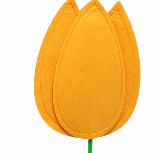 Filt blomstulipan gul sommerdekoration H88cm