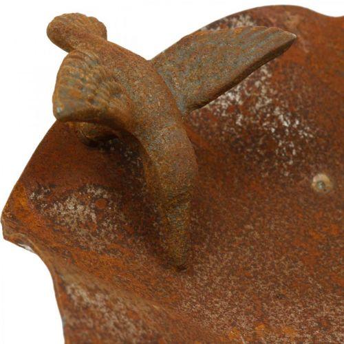 Dekorativt fuglebad, føder af rustfrit stål, antikt fuglebad Ø28cm H74cm