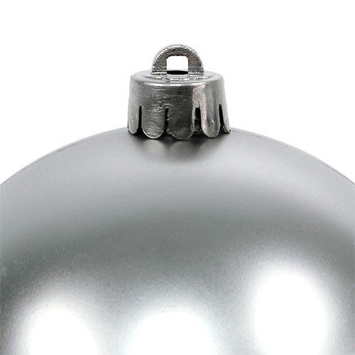 Julekugle sølv Ø10cm 4stk