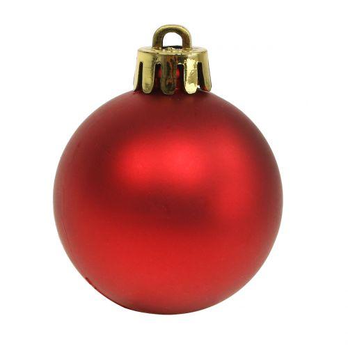 Julekugle rød lille Ø4cm 16stk