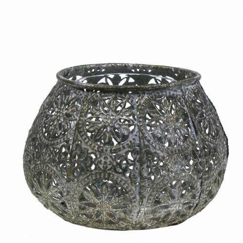 Lantern Orient Antik sølv Ø13cm H9.5cm
