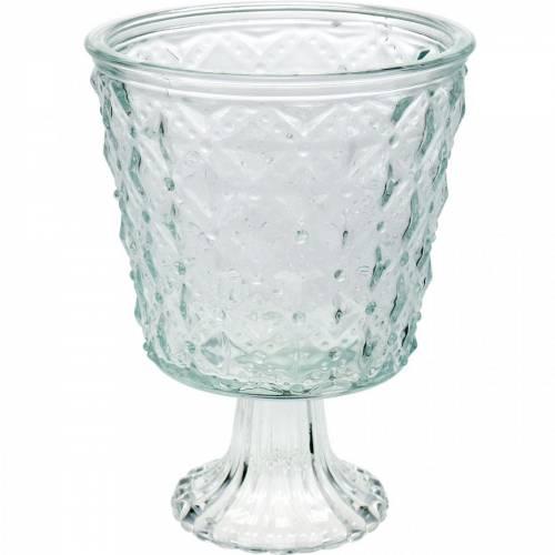 Lanternglas med bundklar Ø13,5cm H18cm borddekoration udendørs