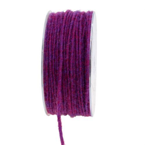 Farvet uldkabel 3mm 100m