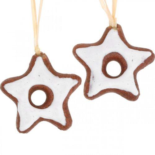 Juletræspynt kanelstjerner dekoration stjerne plast 5cm 24stk
