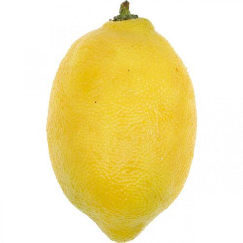 Kunstig frugt, citron, dekorative frugter L8,5cm Ø5cm 4stk