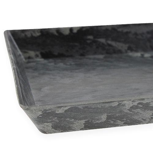 Dekorativ bakke antracit 27 cm x 12 cm