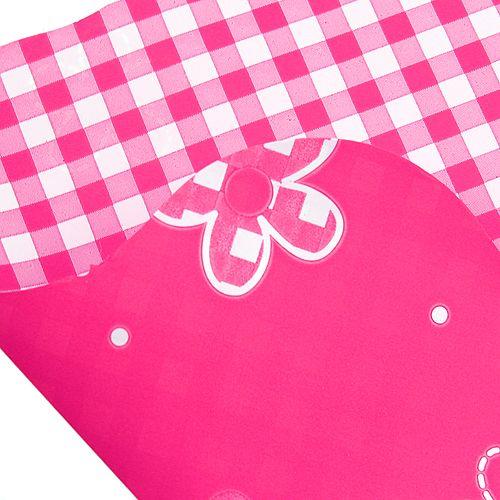 Rondella manchet Vichy Pink Ø50cm 50stk