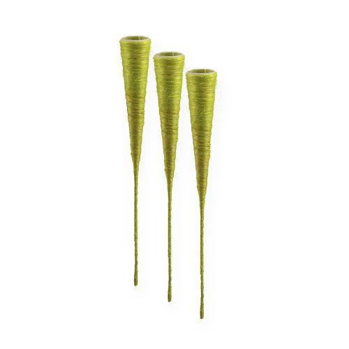 Sisal spids vase lysegrøn Ø3.5cm L40cm 5stk