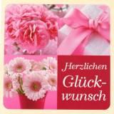 """Tillykke"" etiketter Pink 3,5 cm x 3,5 cm 500 stk"