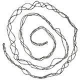 Juledekoration perle kransegrå 275cm