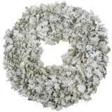 Krans egetræ blade vasket hvid Ø38cm