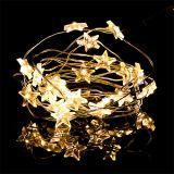 LED-lystråd stjerner 20er 2,3 m varm hvid