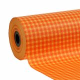 Manchetpapir 25 cm 100m orange check