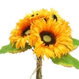 Dekorativ buket solsikke bundt gul 30 cm