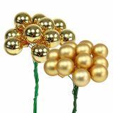 Mini julekugler 20mm Gold Mix 140St_da