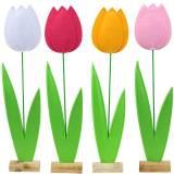 Filt blomstulipan Forskellige farver H88cm